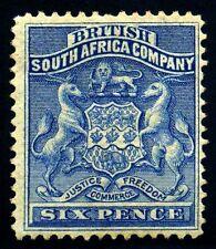 British South Africa, Rhodesia. 1890. 6d. Ultra. SC# 6. SG 2. MH