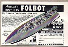 1950 Print Ad Folbot Folding Portable Boats Long Island City,NY