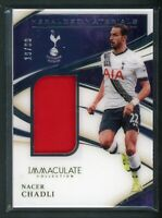 2020 NACER CHADLI 19/99 JERSEY PANINI IMMACULATE COLLECTION HERALDED MATERIALS