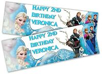 x2 Personalised Birthday Banner Unicorn kid Adult Party Decoration Poster 171