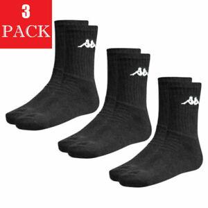 KAPPA Mens Socks 3 Pairs Unisex Womens Boots Multi-pack Mid Calf Sports Socks