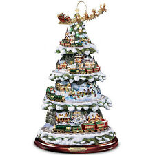 Thomas Kinkade Animated Christmas Tree Holiday Centerpiece Decor NEW