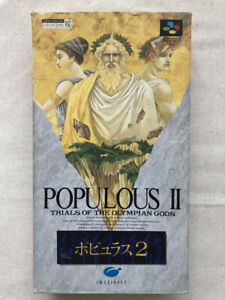 POPULOUS2 Super Famicom Nintendo SFC SNES JAPAN