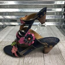 L'Artiste Lona By Spring Step Women's Leather Sandal Multi Color Flowers Size 42