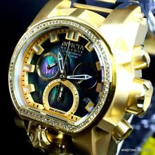 Invicta Reserve Magnum Bolt Zeus Diamond Black MOP Swiss Mvt 52mm Watch New