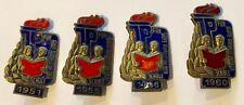 JP JUNGE PIONIERE 1951, 1955, 1956, 1960 DDR ABZEICHEN JUNGPIONIERE ORDEN SCHULE