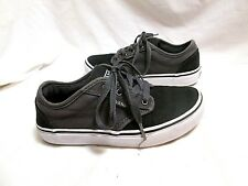 VANS Black/Gray Canvas Athletic Sneakers Youth 2.5 MINT