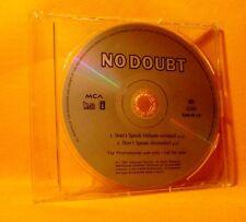 MAXI PROMO Single CD No Doubt Don't Speak 2TR 1996 Pop Rock MEGA RARE !