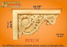 "Staircase Step Decorative End Bracket 10-7/8""W x 6-7/8""H x 3/4""Thick"