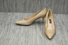 Nine West Margie Pointed Toe Pumps - Women's Size 6M - Gold
