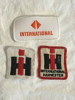 Lot 3 INTERNATIONAL HARVESTER brand cloth PATCH Patches Square Rectangle