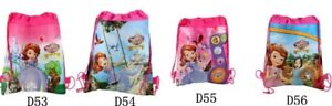 SOFIA THE FIRST Drawstring Bag Backpack Swim Book shoe Sport Party Gift Birthday