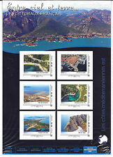 FRANCE 2014.COLLECTOR 6 TIMBRES AA NEUF.LES CÔTES MEDITERRANEENNES EST
