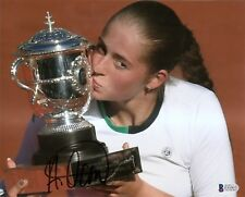Jelena Ostapenko French Open Tennis Signed Auto 8x10 PHOTO Beckett BAS COA