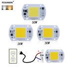 New Smart IC Driver LED light Bulb COB Chip 110V 220V Input Integrated20/30/50W