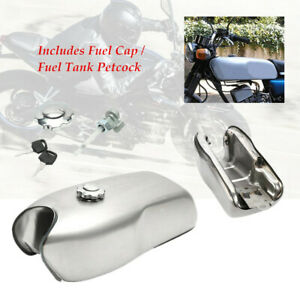 9L/2.4 Gallon Motorcycle Cafe Racer Gas Fuel Tank fit for Yamaha Universal
