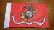 UNITED STATES MARINE CORPS USMC 2 SIDED FLAG 9 1/2X6 INCHES PARRIS ISLAND  BXXL