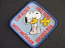 1990 Snoopy embroidered Square patch Boy Scout insignia *Free Us ship