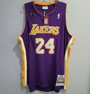 NWT Authentic Mitchell Ness LA Lakers Kobe Bryant 24 Finals Jersey 52 2XL $300