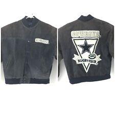 G-III G-3 Carl Banks Dallas Cowboys Rugby Club Leather & Wool Jacket NFL Size M