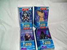 """Star Wars Saga 1 AOTC & TESB Character Collectibles 8"""" Figures MIP Rare Lot of 4"""