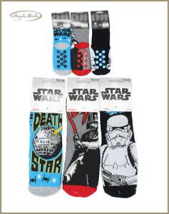 Calzini antiscivolo per bambini calzettoni da bimbo caldi calze cotone Star Wars