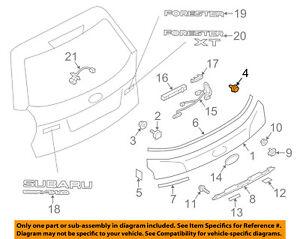 SUBARU OEM 14-16 Forester Liftgate Tailgate-Finish Panel Clip 909130228