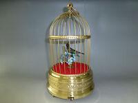 VINTAGE GERMAN KARL GRIESBAUM SINGING BIRD CAGE MUSIC BOX AUTOMATON =WATCH VIDEO