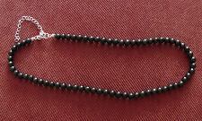 Shungite Necklace 68 Beads stones 6 mm Shungit from Karelia Russia