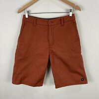 Rip Curl Mens Shorts 28 Brown Zip Closure Bermuda