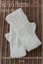 KNITTING PATTERN for Ladies Fingerless, Gloves , #KP395 NOT CLOTHES