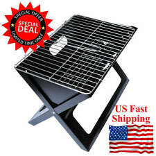 Portable Compact Charcoal Barbecue BBQ Grill Outdoor Camping Cooker Bars Smoker!