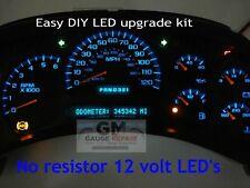 2003 04 05 Silverado Tahoe Gauge & Speedo Bulb to LED Conversion Kit DIY, Blue