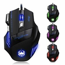[New Version] Zelotes 7200 DPI 7 Buttons LED Optical USB Wired Gaming Mouse Mice