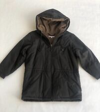 Bonpoint Boys Grey Fleece Lined Parka jacket with Hood - 10 Years