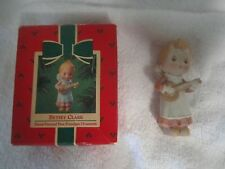 Vintage 1984 Hallmark Betsey Clark Porcelain Angel Christmas Ornament In Box