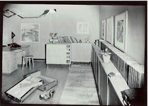 """Original Vintage H. Finsler """"Raumaufnahme für Wohnbedarf-AG"""" Zürich 1934,Bauhaus"""