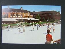 Sun Valley Idaho ID Olympic Size Open Air Ice Rink Skating View Postcard 1950s