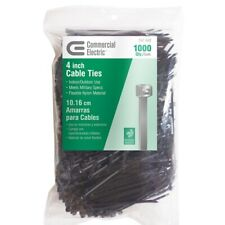 d1a33fa8354a Commercial Electric Cable Ties 4 in (1000 Pack) Heavy Duty UV Resistant  Black