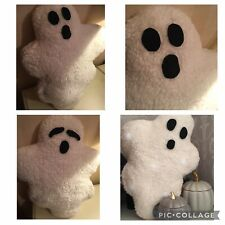 Handmade Light Up Ghost Cushion With Reversible Face On Each Side Halloween