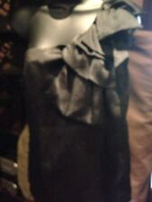 Top Shop Vintage Style Black Ruffled One Shoulder Top