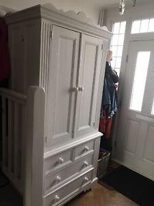 white french style wardrobe