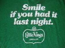 VTG Little Kings Malt Liquor smile if you had it last night funny sex T Shirt L