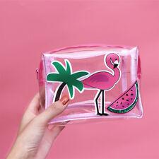 Flamingo Travel Make Up Bag Beauty Bag Transparent Jelly Cellphone Mini Wallet
