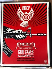 "Shepard Fairey/ Obey- ""God Saves-"" 18""X24"" Signed & #/450 ltd. Ed. Screenprint"