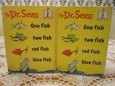 ONE FISH TWO RED BLUE Seuss Suess 1960 HC/DJ Early Edition Beginner Books