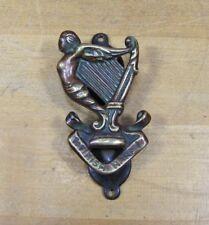 Old Bronze Irish Harp Nude Small Interior Door Knocker Architectural Hardware