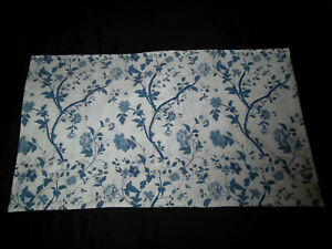 Laura Ashley Elise King Pillow Sham Pair Blue White Vine Floral Cottage Leaf