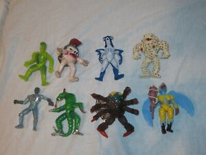 """EVIL SPACE ALIENS POWER RANGERS FIGURES 5"""" SPIDERTRON PYTHOR EYE POPPING PUDGY"""