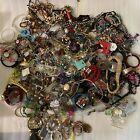 18LB Bulk Whole Lot Estate Costume Loose Scrap Junk Jewelry Necklace Bracelets a